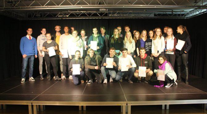 Verleihung der Cambridge-Zertifikate am CvO